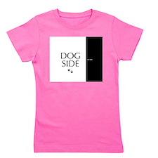 dog side 8 black white Girl's Tee