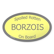 Spoiled Borzois On Board Oval Decal