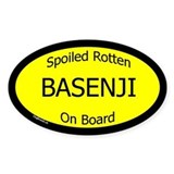 Spoiled Basenji On Board Oval Decal