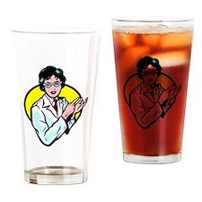 Scientist Drinking Glass