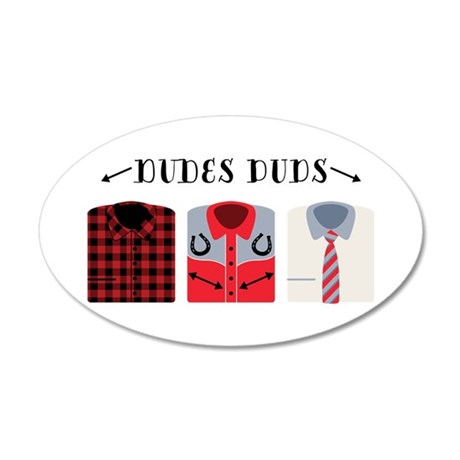 Dude's Duds Wall Decal