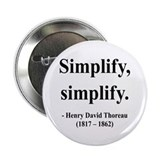 Henry David Thoreau 2 2.25&quot; Button (10 pack)