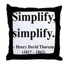 Henry David Thoreau 2 Throw Pillow