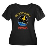 STS 120 NASA Women's Plus Size Scoop Neck Dark Tee