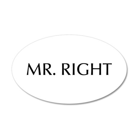 Mr Right-Opt black Wall Decal