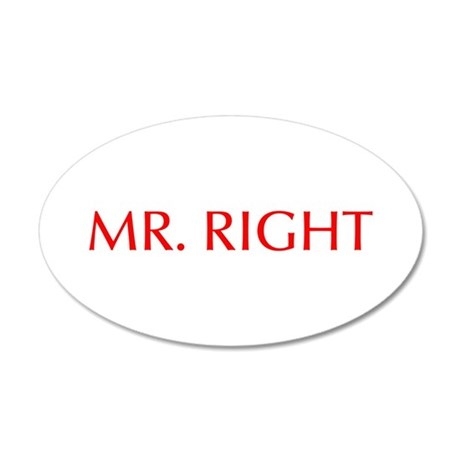 Mr Right-Opt red Wall Decal