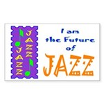 Future of Jazz Kids Light Rectangle Sticker