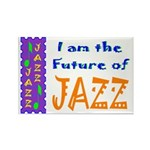 Future of Jazz Kids Light Rectangle Magnet (100 pa