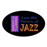 Future of Jazz Kids Dark Oval Sticker