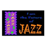 Future of Jazz Kids Dark Rectangle Sticker