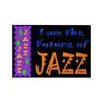 Future of Jazz Kids Dark Rectangle Magnet