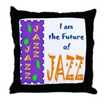 Future of Jazz Kids Light Throw Pillow