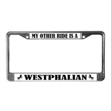 My Other Ride Is A Westphalian License Plate Frame