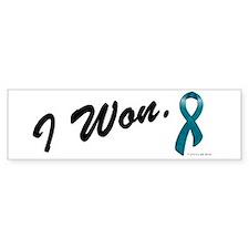 I Won Ovarian Cancer Survivor Bumper Bumper Sticker