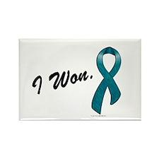 I Won Ovarian Cancer Survivor Rectangle Magnet
