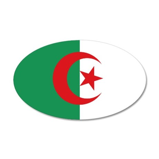 Algerian flag 35x21 Oval Wall Decal