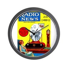 Radio News Wall Clock