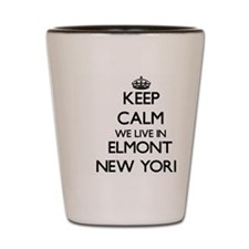 Keep calm we live in Elmont New York Shot Glass