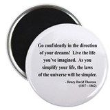 "Henry David Thoreau 5 2.25"" Magnet (100 pack)"