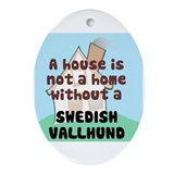 Vallhund Home Oval Ornament