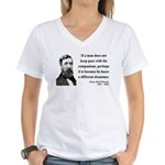 Henry David Thoreau 6 Women's V-Neck T-Shirt