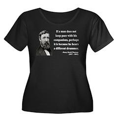 Henry David Thoreau 6 Women's Plus Size Scoop Neck