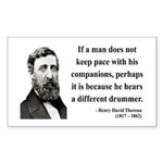 Henry David Thoreau 6 Rectangle Sticker