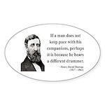 Henry David Thoreau 6 Oval Sticker
