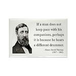Henry David Thoreau 6 Rectangle Magnet