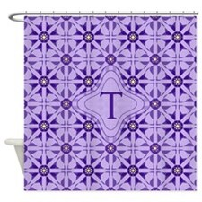 Quilted Violet Shower Curtain