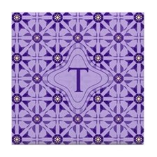 Quilted Violet Tile Coaster