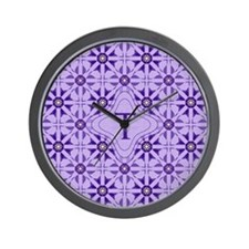 Quilted Violet Wall Clock