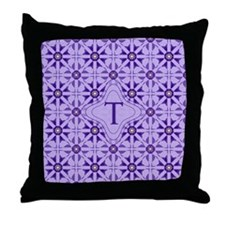 Quilted Violet Throw Pillow