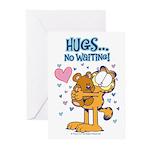 Hugs...No Waiting! Greeting Cards (Pk of 20)