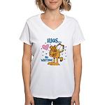 Hugs...No Waiting! Women's V-Neck T-Shirt