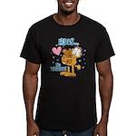 Hugs...No Waiting! Men's Fitted T-Shirt (dark)