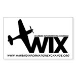 WIX Small Rectangle Sticker