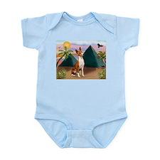 Basenji at the Pyramids Infant Bodysuit