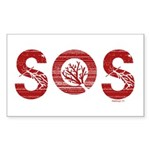 SOS Rectangle Sticker