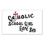 Catholic School Girl Rectangle Sticker