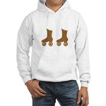 Brown Roller Skates Hooded Sweatshirt