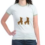 Brown Roller Skates Jr. Ringer T-Shirt