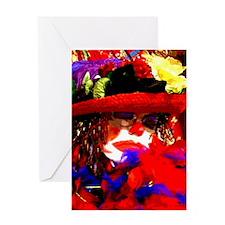 Sleepy Clown (GloriPasta) Greeting Cards