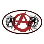 Anarchy Oval Sticker