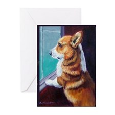 Cute Cardigan welsh corgi Greeting Cards (Pk of 10)