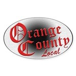 Orange County Local Oval Sticker