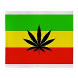 Jamaica flag curtain Fleece Blankets