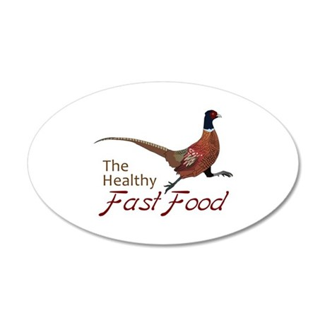 The Healthy Fast Food Wall Decal