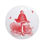 The Hive In Red Ornament (Round)