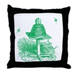 The Hive in Green Throw Pillow